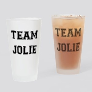 Team Jolie Black Drinking Glass