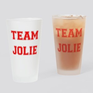 Team Jolie Red Drinking Glass