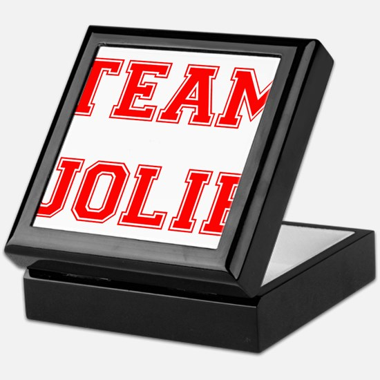 Team Jolie Red Keepsake Box
