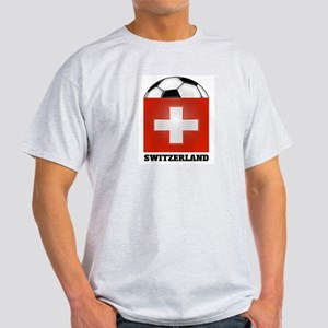 Switzerland Soccer Ash Grey T-Shirt