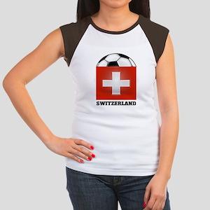 Switzerland Soccer Women's Cap Sleeve T-Shirt