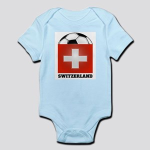 Switzerland Soccer Infant Creeper