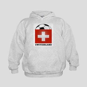 Switzerland Soccer Kids Hoodie