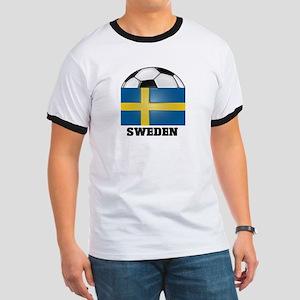 Sweden Soccer Ringer T