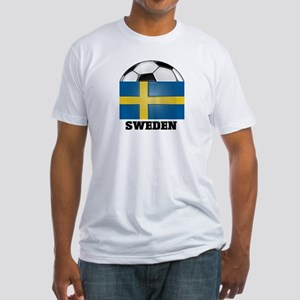 Sweden Soccer Fitted T-Shirt