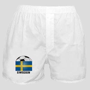 Sweden Soccer Boxer Shorts