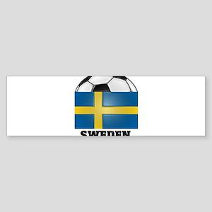 Sweden Soccer Bumper Sticker