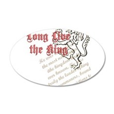 Long Live the King 22x14 Oval Wall Peel