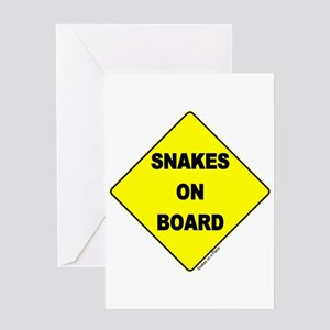 Snakes on Board Greeting Card