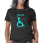 damnit.wheelchair.cyan Women's Classic T-Shirt