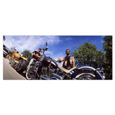 Motorcycle Riders and Harley Davidsons Milwaukee W Poster