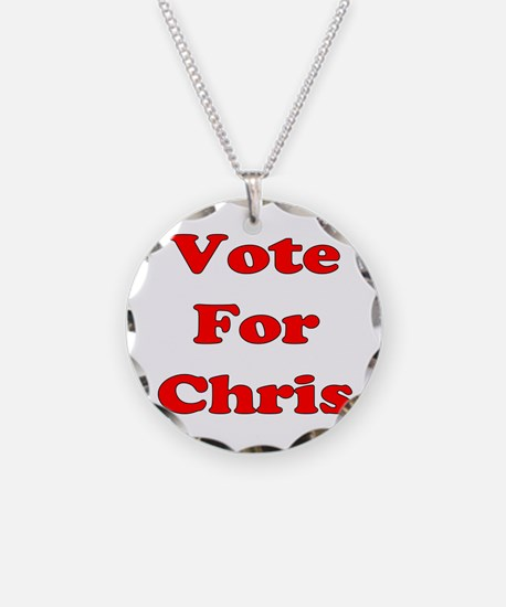 Vote For Chris (Red) Necklace