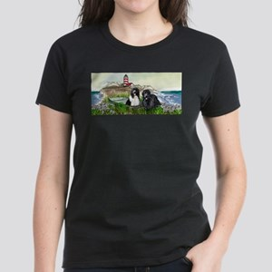 Two Newfs Seascape T-Shirt