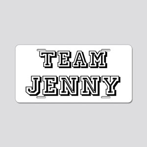 Team Jenny Black Aluminum License Plate
