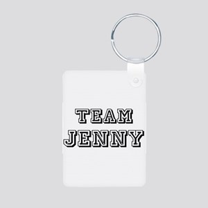 Team Jenny Black Aluminum Photo Keychain