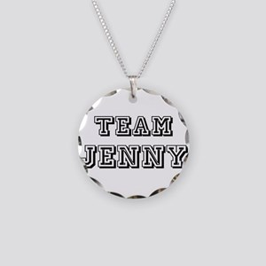 Team Jenny Black Necklace Circle Charm