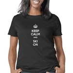 Keep Calm and Ski On Women's Classic T-Shirt