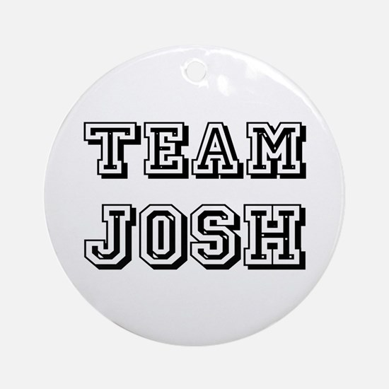 Team Josh Black Ornament (Round)