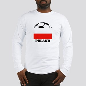 Poland Soccer Long Sleeve T-Shirt