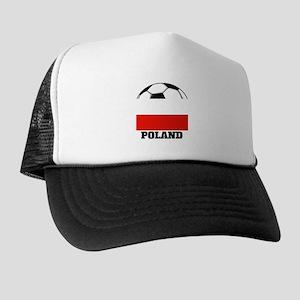 Poland Soccer Trucker Hat