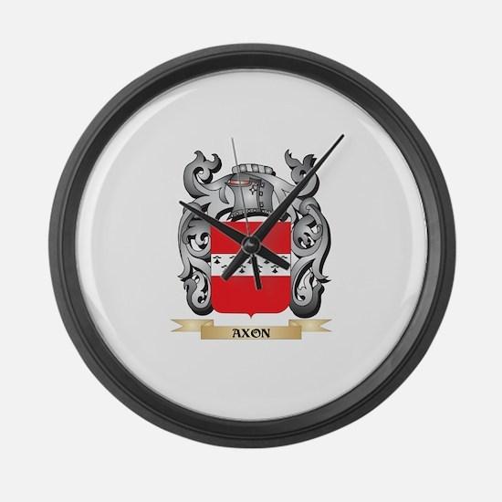 Axon Family Crest - Axon Coat of Large Wall Clock