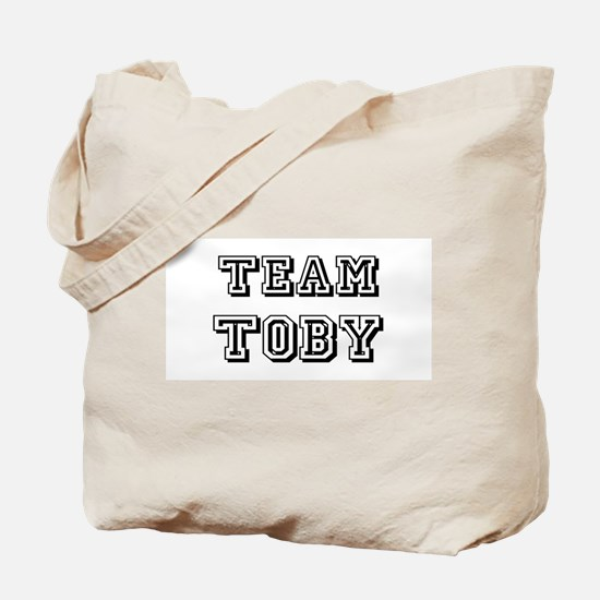 Team Toby Black Tote Bag