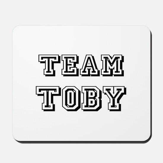 Team Toby Black Mousepad