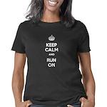 keepcalmandRunOn_CPDark Women's Classic T-Shirt