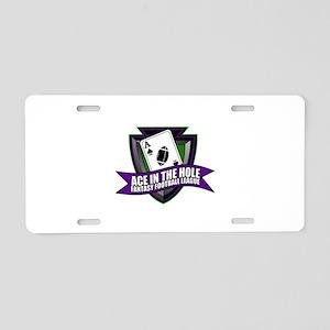 AITHFFL Logo Aluminum License Plate