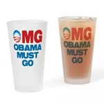 OMG: Obama Must Go Drinking Glass