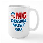 OMG: Obama Must Go Large Mug