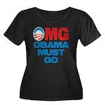 OMG: Obama Must Go Women's Plus Size Scoop Neck Da