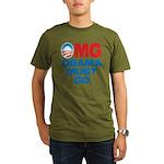 OMG: Obama Must Go Organic Men's T-Shirt (dark)
