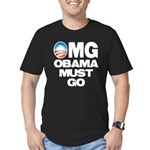 OMG: Obama Must Go Men's Fitted T-Shirt (dark)
