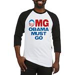 OMG: Obama Must Go Baseball Jersey
