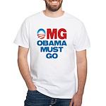 OMG: Obama Must Go White T-Shirt