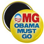 """OMG: Obama Must Go 2.25"""" Magnet (10 pack)"""