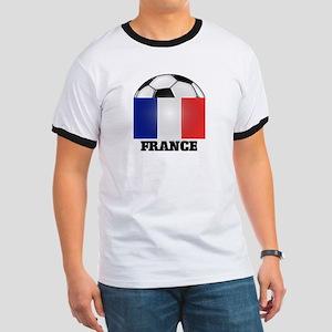 France Soccer Ringer T