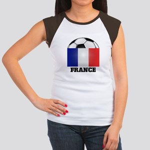 France Soccer Women's Cap Sleeve T-Shirt