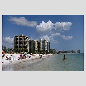 Tourists on the beach, Marco Island, Florida