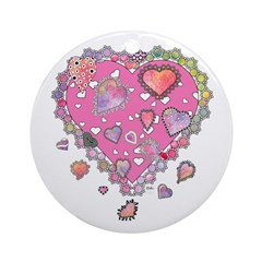 Lots of Hearts Ornament (Round)