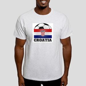 Croatia Soccer Ash Grey T-Shirt