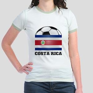 Costa Rica Soccer Jr. Ringer T-Shirt