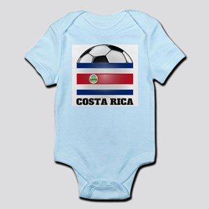 Costa Rica Soccer Infant Creeper