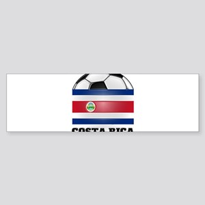 Costa Rica Soccer Bumper Sticker