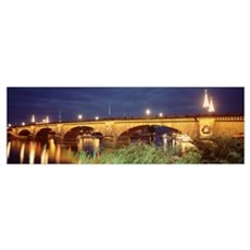Arizona, Lake Havasu City, Christmas London Bridge Canvas Art