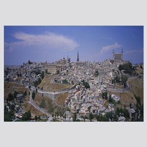 High angle view of a city, Toledo, Spain