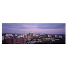 High angle view of a city, Chattanooga, Tennessee Poster