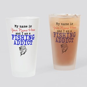 Fishing Addict Drinking Glass