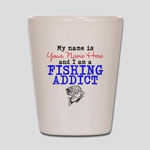 Fishing Addict Shot Glass
